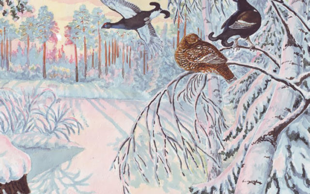 Птицы под снегом